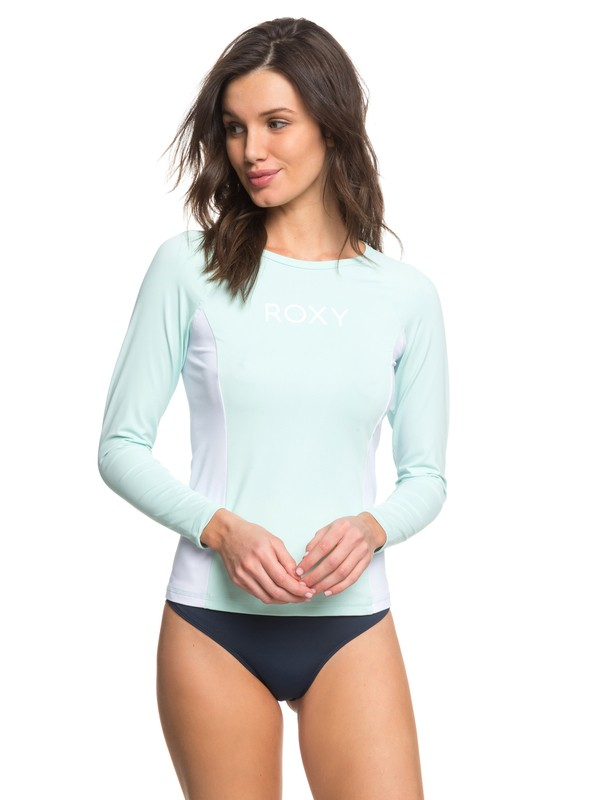 0 On My Board Colorblock  Long Sleeve UPF 50 Rashguard Blue ERJWR03210 Roxy