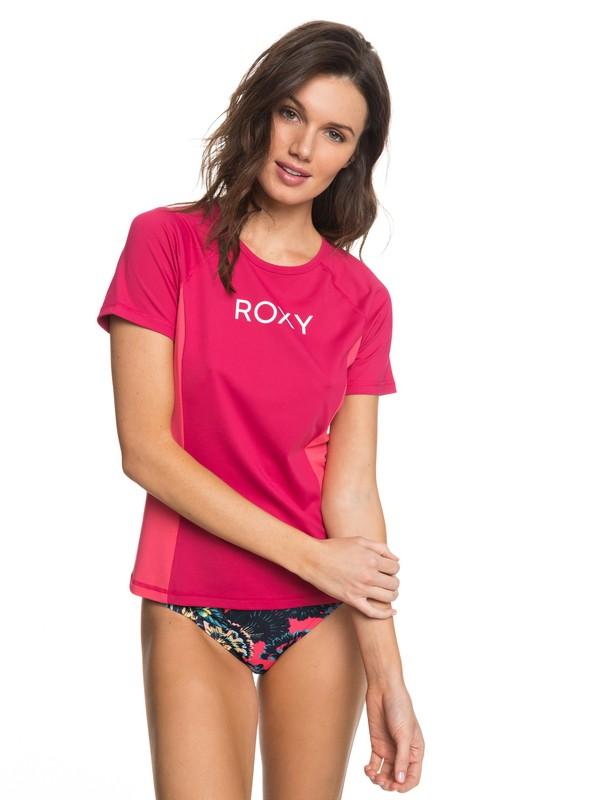 0 On My Board Colorblock  Short Sleeve UPF 50 Rashguard Pink ERJWR03211 Roxy