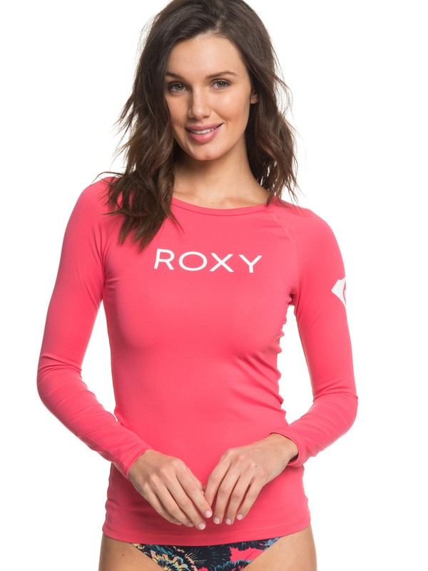 0 ROXY Surf Long Sleeve UPF 50 Rashguard Pink ERJWR03217 Roxy