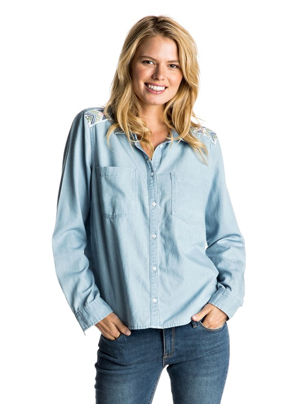 0 Light Cloudy Chambray Shirt  ERJWT03106 Roxy