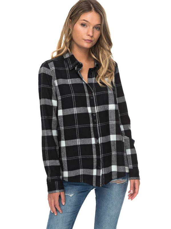 0 Heavy Feelings Long Sleeve Shirt Black ERJWT03178 Roxy