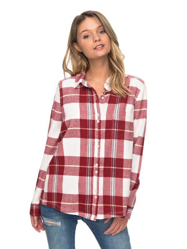 0 Heavy Feelings Long Sleeve Shirt Red ERJWT03178 Roxy