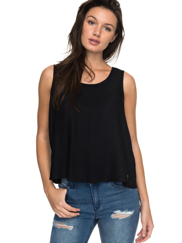0 Moonstone Soul Mate Lacey Back Tank Top  ERJWT03181 Roxy
