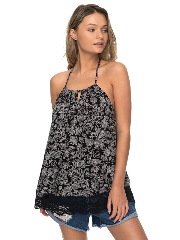 0 Light And Breezy Halter Top  ERJWT03185 Roxy