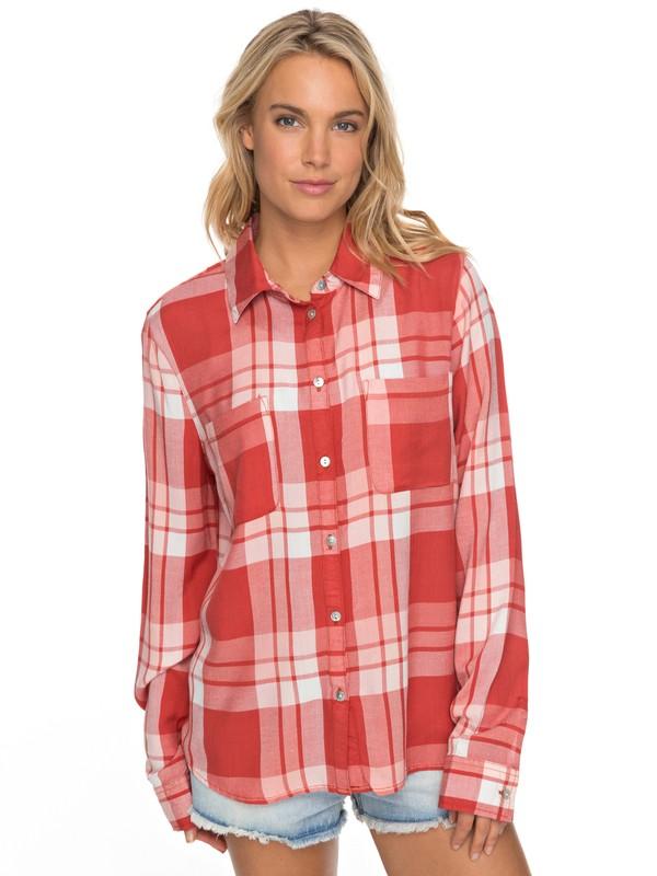 0 Setai Miami Long Sleeve Viscose Shirt Orange ERJWT03187 Roxy