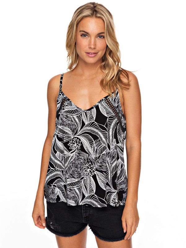 0 Black Waves Cami Top Black ERJWT03210 Roxy