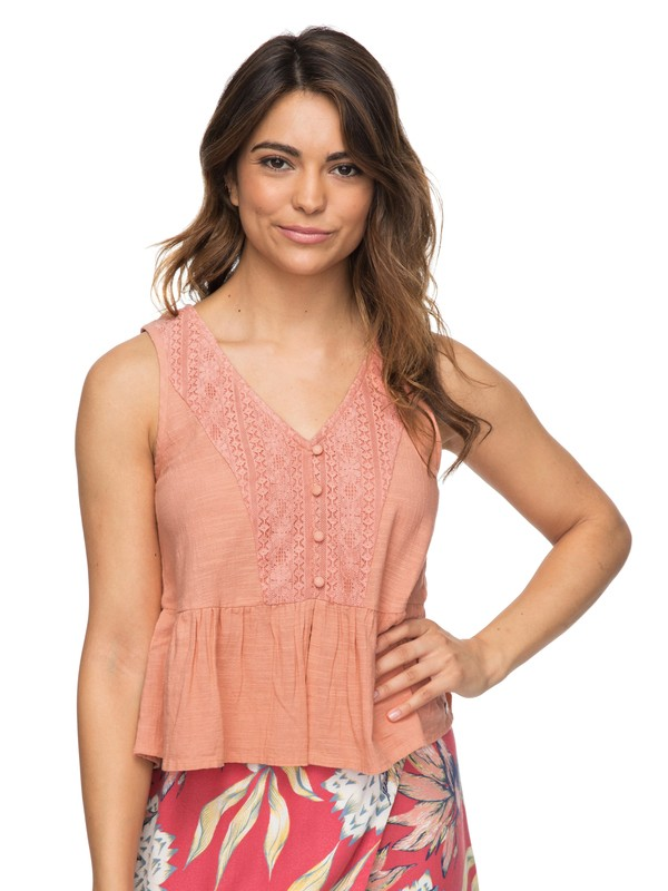 0 First And Only Tank Top Pink ERJWT03212 Roxy