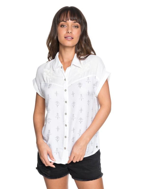 0 Camisa de Manga Enrollable Western Window Blanco ERJWT03220 Roxy