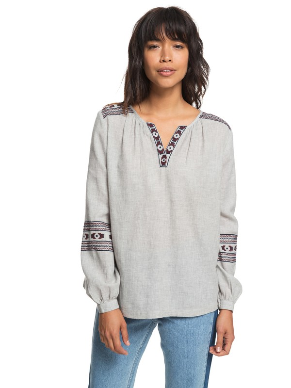 0 Timing Matters Long Sleeve Shirt Grey ERJWT03236 Roxy