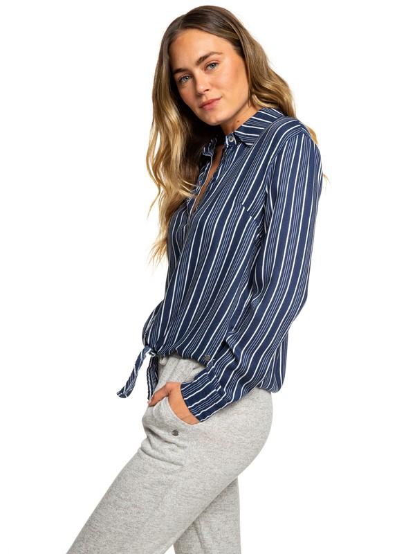 0 Suburb Vibes - Chemise à manches longues pour Femme Bleu ERJWT03255 Roxy