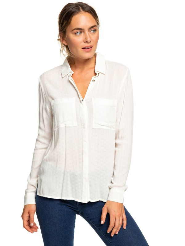 0 Sanur Shades Long Sleeve Shirt White ERJWT03259 Roxy
