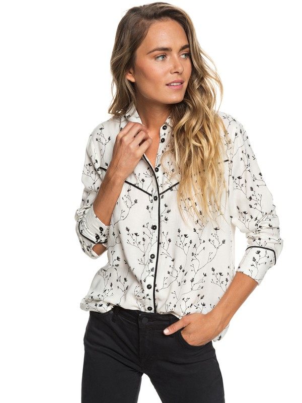 0 Shambhala Estate Long Sleeve Shirt White ERJWT03274 Roxy