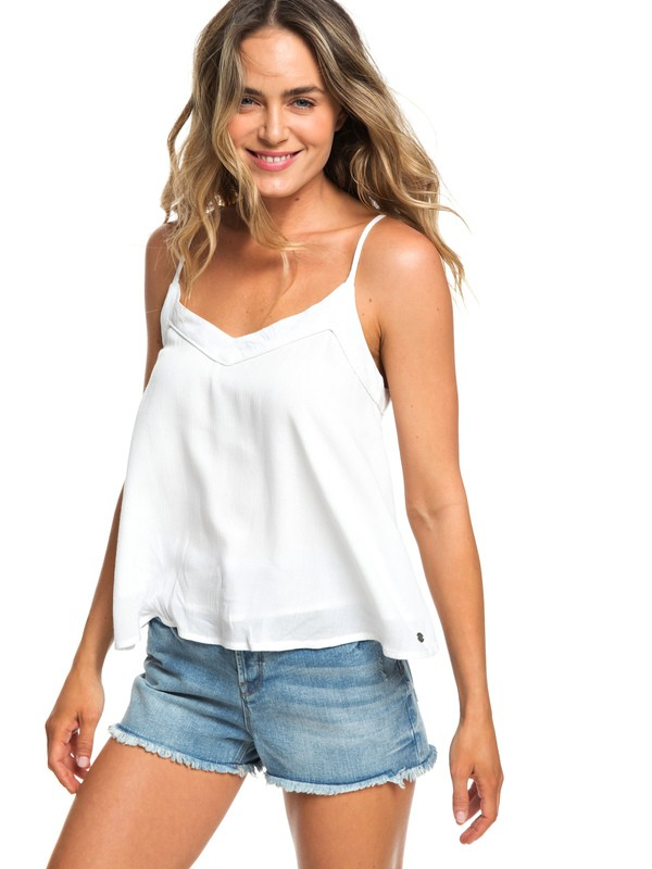0 Off We Go Cami Top White ERJWT03283 Roxy