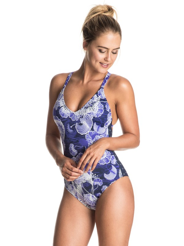 0 Perpetual Water One Piece Swimsuit  ERJX103033 Roxy