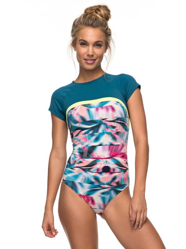 0 Keep It ROXY One Piece Cap Sleeve Swimsuit  ERJX103085 Roxy
