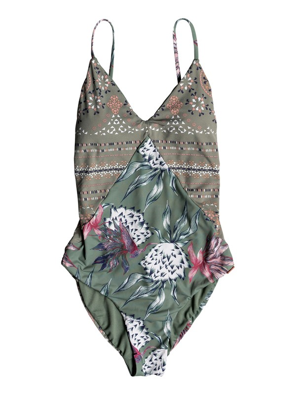 0 Little Bandits One-Piece Swimsuit Green ERJX103127 Roxy