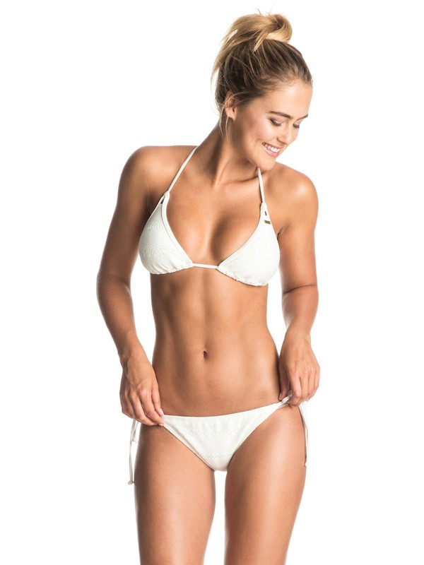 0 Drop Diamond - Triangle Bikini Set White ERJX203161 Roxy