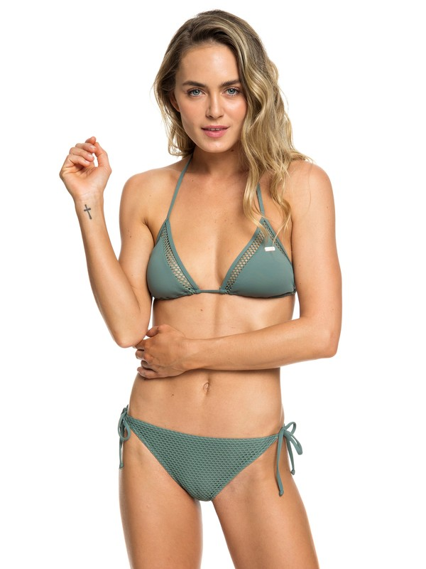 0 Garden Summers - Set Bikini Triangolare da Donna Green ERJX203338 Roxy
