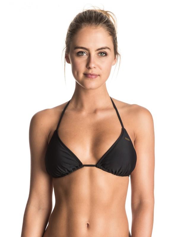 0 Surf Essentials Tiki Tri Bikini Top  ERJX303205 Roxy