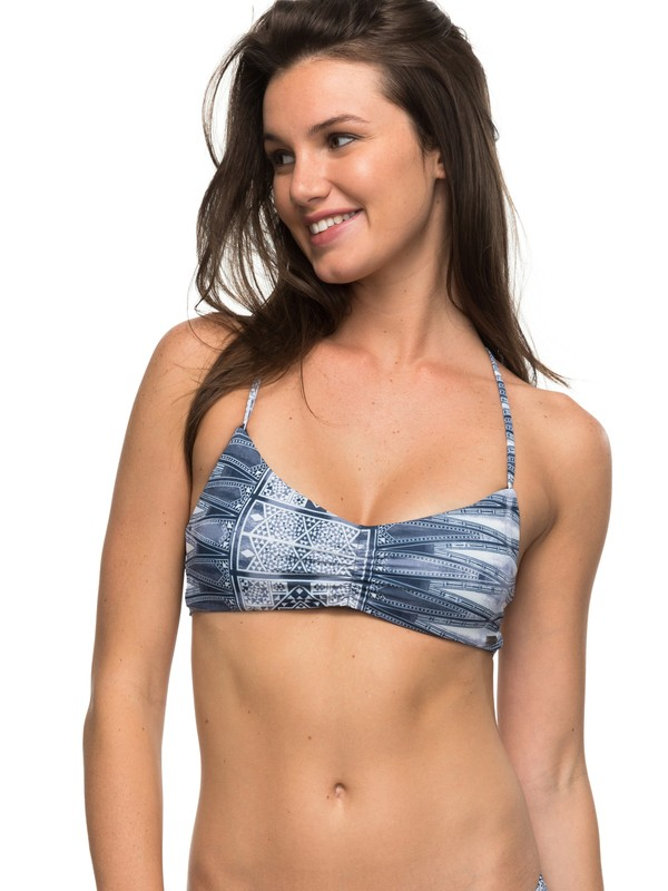 0 Strappy Love Reversible Athletic Bikini Top  ERJX303520 Roxy