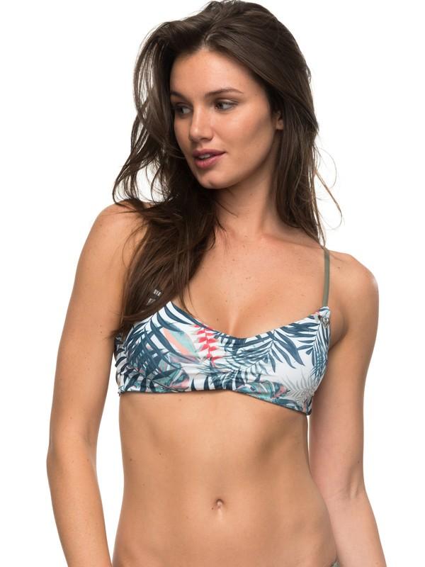 0 Strappy Love Reversible Athletic Bikini Top White ERJX303520 Roxy