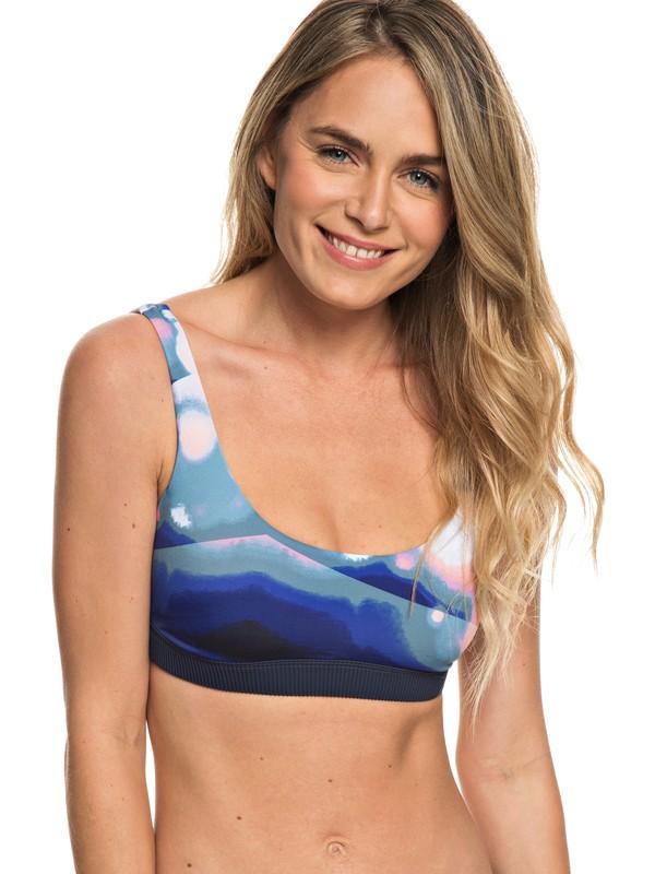 0 Parte Superior de Bikini Bra Sporty ROXY Fitness Azul ERJX303700 Roxy
