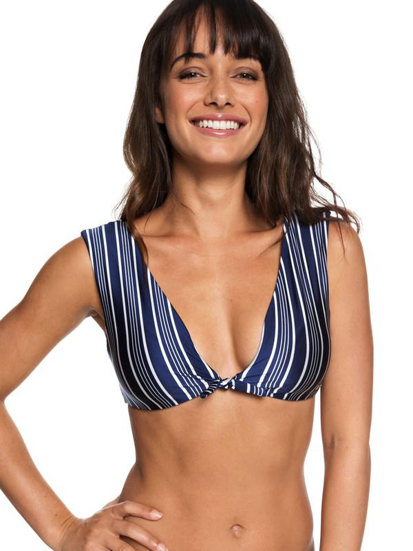 0 Urban Waves Elongated Tri Bikini Top Blue ERJX303738 Roxy