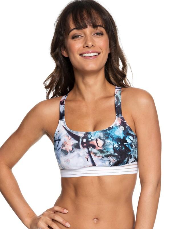 0 Parte Superior de Bikini Bra Sporty Fitness ROXY Azul ERJX303746 Roxy
