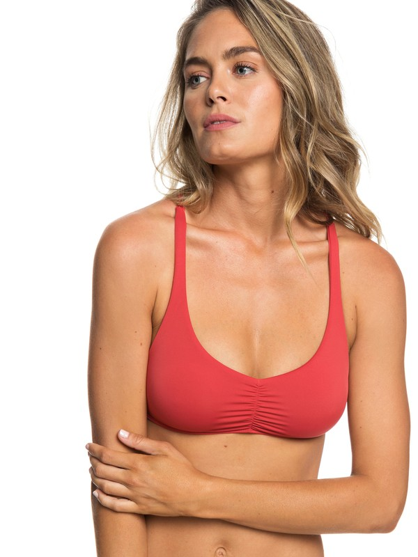 0 Softly Love Athletic Triangle Bikini Top Red ERJX303751 Roxy