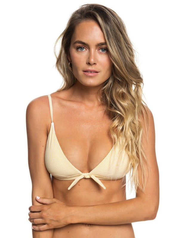 0 Bali Dreamers Fixed Triangle Bikini Top Yellow ERJX303824 Roxy