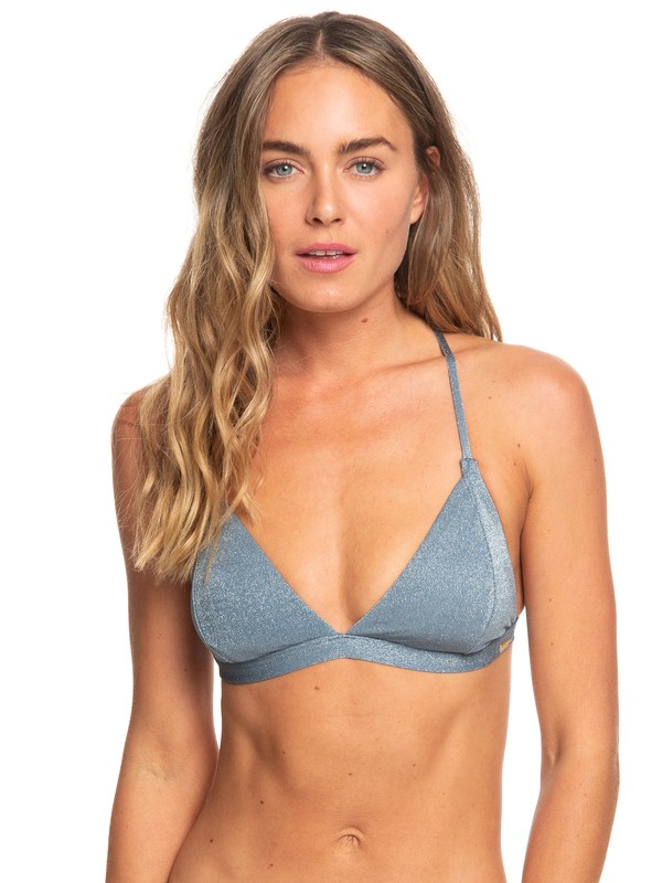 0 Color My Life Fixed Triangle Bikini Top Blue ERJX303857 Roxy