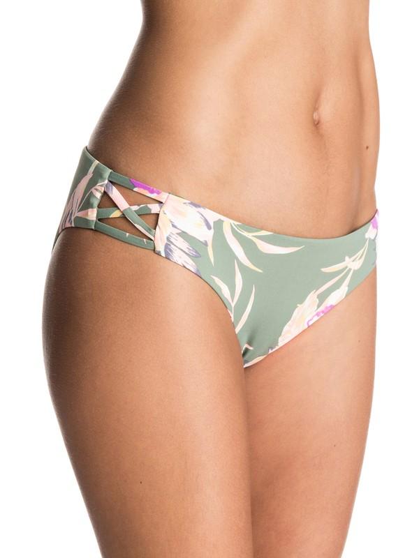 0 Castaway Floral 70's Bikini Bottoms  ERJX403233 Roxy