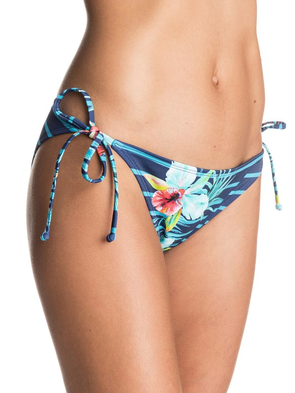 0 Exotic Lines Tie Side Bikini Bottoms  ERJX403239 Roxy