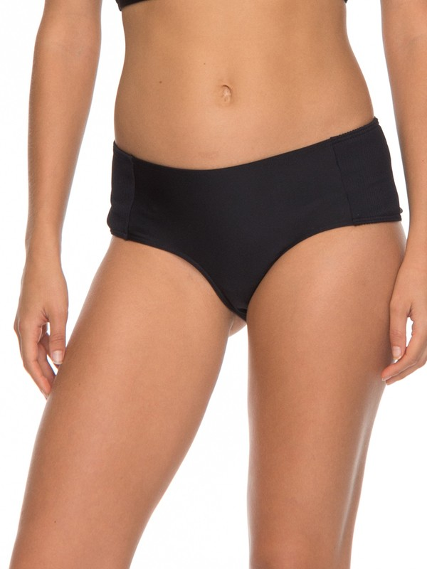 0 ROXY Fitness - Shorty Bikini Bottoms for Women Black ERJX403536 Roxy