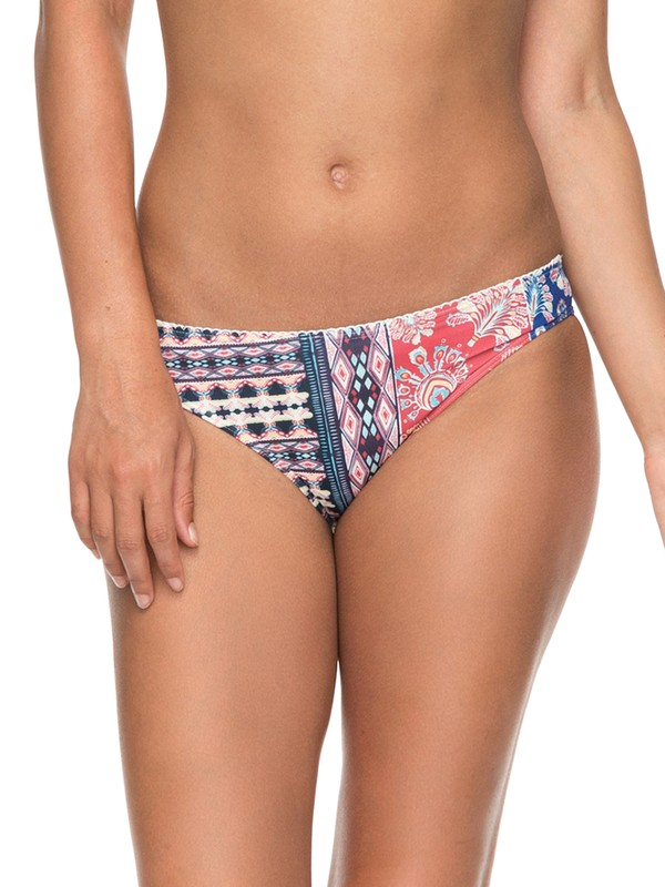 0 Bohemian Vibes Regular Bikini Bottoms White ERJX403583 Roxy