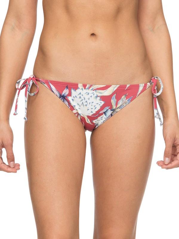 0 Little Bandits Tie Side Surfer Bikini Bottoms Pink ERJX403587 Roxy