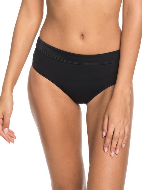 0 Beach Basic Mid-Waist Bikini Bottoms  ERJX403604 Roxy
