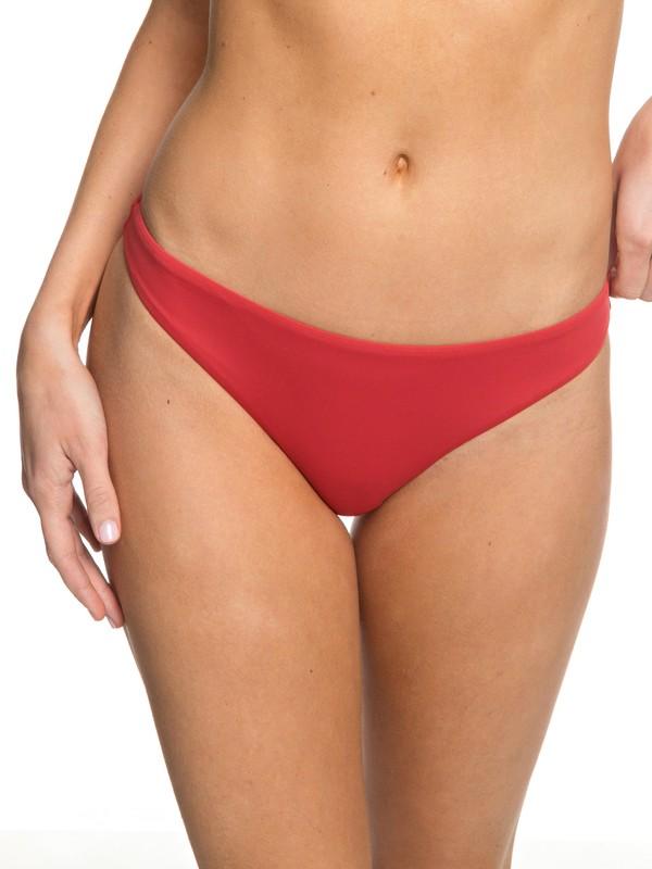 0 Softly Love Moderate Bikini Bottoms Red ERJX403605 Roxy