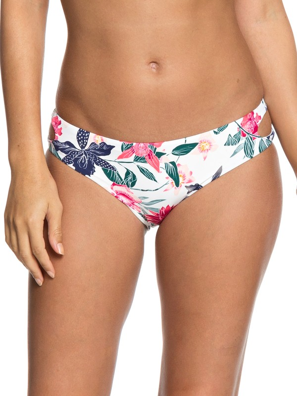 0 Urban Waves Full Bikini Bottoms White ERJX403622 Roxy