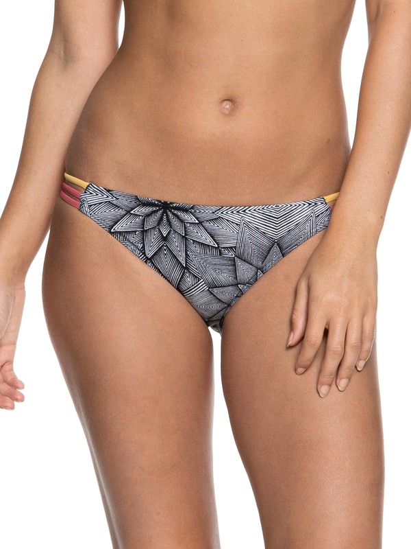 0 POP Surf Moderate Bikini Bottoms White ERJX403624 Roxy