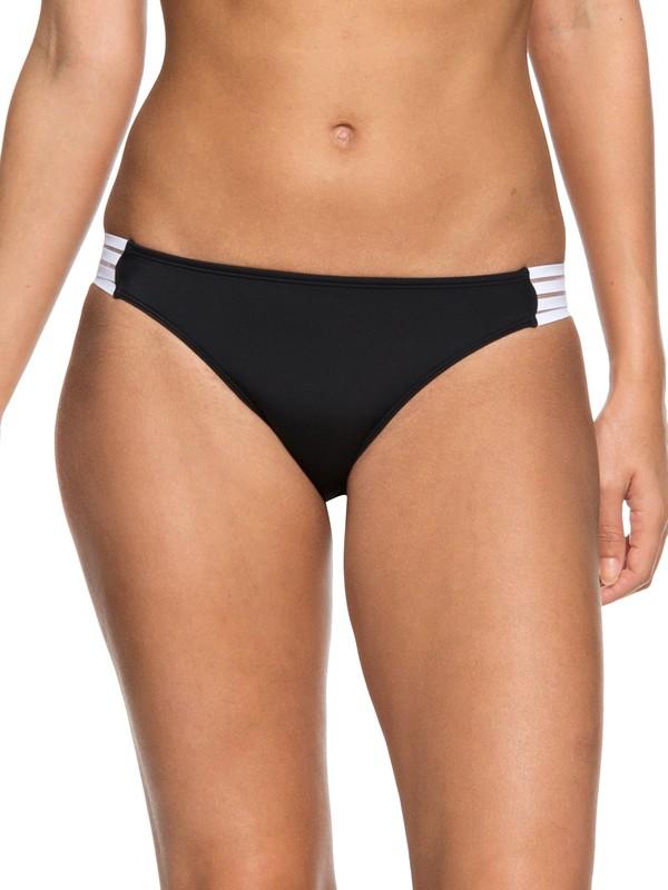 0 ROXY Fitness Regular Bikini Bottoms Black ERJX403626 Roxy