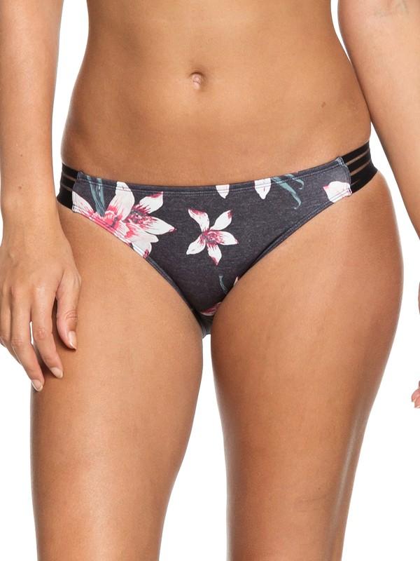 0 ROXY Fitness Regular Bikini Bottoms Black ERJX403632 Roxy