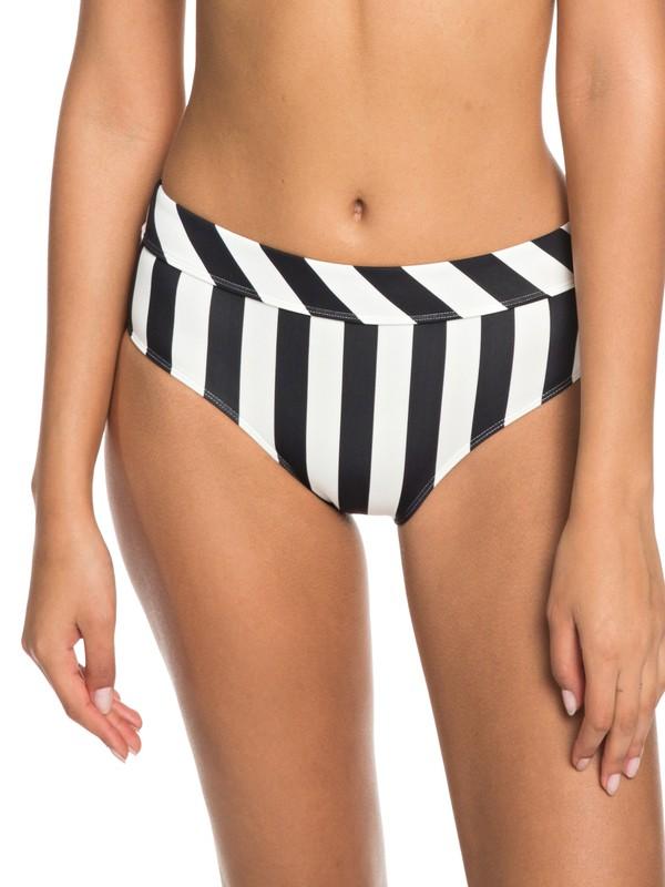 0 Beach Basic Mid-Waist Bikini Bottoms Black ERJX403633 Roxy