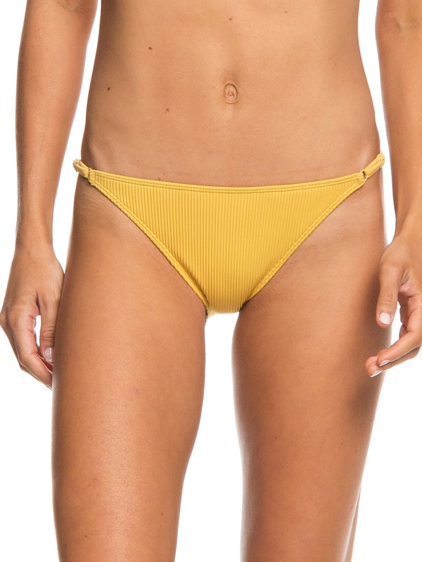 0 Uluwatu Waves Moderate Bikini Bottoms Yellow ERJX403658 Roxy