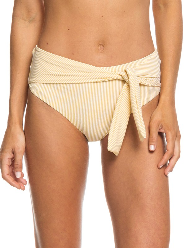 0 Bali Dreamers High-Waist Bikini Bottoms Yellow ERJX403671 Roxy