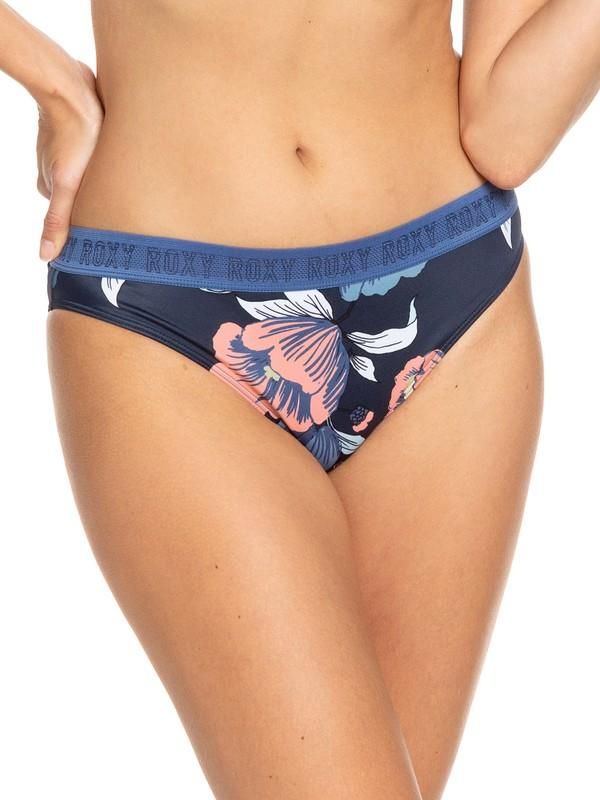 0 ROXY Fitness Full Bikini Bottoms Blue ERJX403693 Roxy