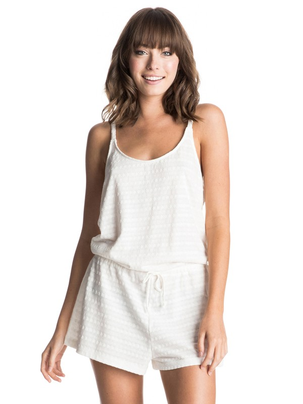 0 Summer Lovin'  Beach Romper White ERJX603027 Roxy