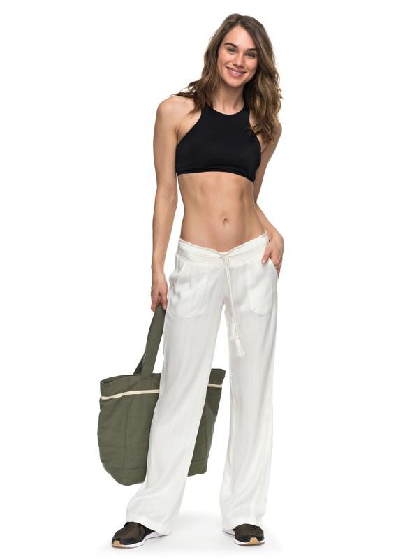 0 Oceanside Beach Pants White ERJX603069 Roxy