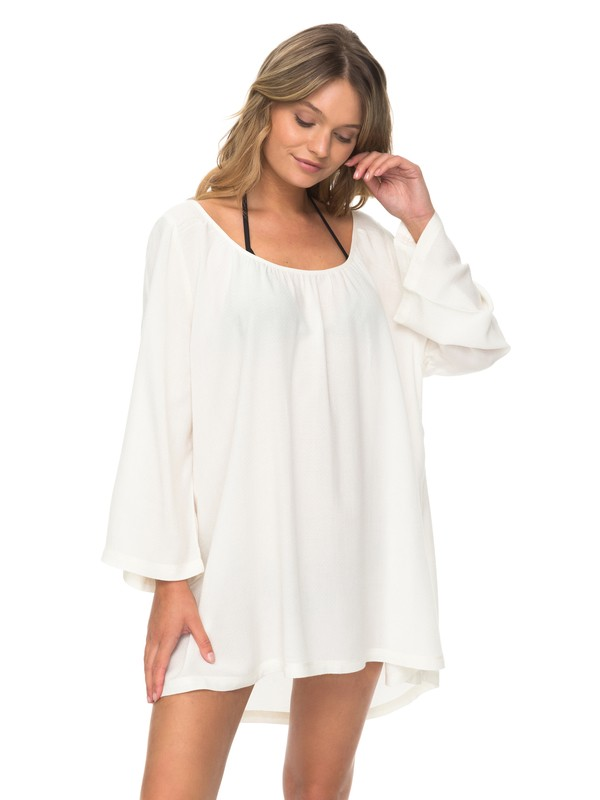 0 Smile And Surf - 3/4 Sleeve Dress for Women White ERJX603103 Roxy