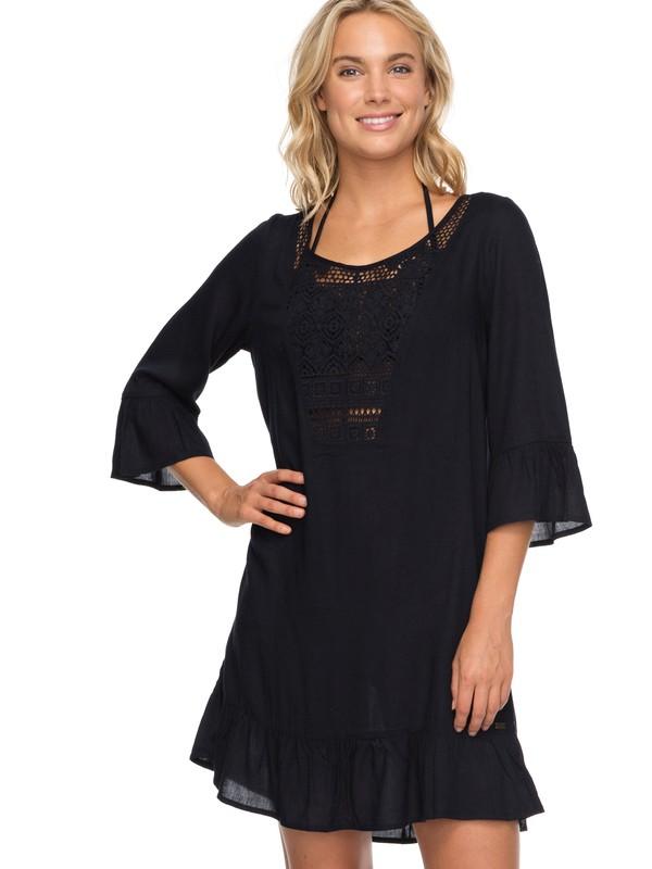 0 Vestido con Olán Cacti Tazia Negro ERJX603119 Roxy